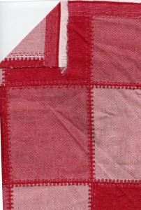 Quilted Twill Red