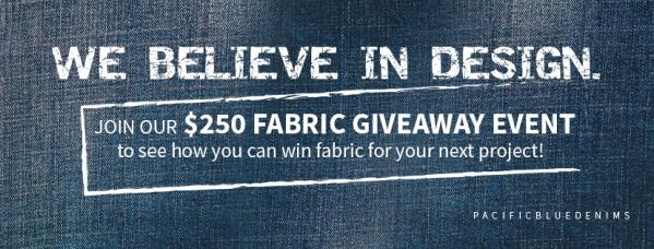 Win $250 Of Pacific Blue Denims' Wholesale Fabric